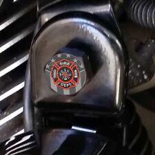 Black Billet Horn Cover Mounting Nut Kit For Harley - GHOST USA FIRE DEPT H126