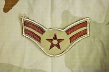 Military Patch US Air Force Desert Tan Color Airman First Class A1C Rank