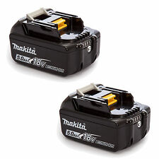 MAKITA 18V LXT LITHIUM ION BL1850 BL1850B GENUINE BATTERIES 5.0AH x 2