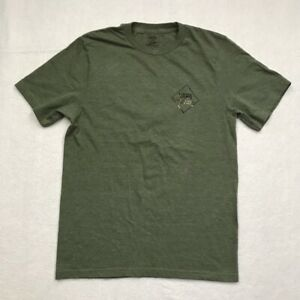 Vans Boys Off The Wall Graphic T-Shirt Green Crew Neck Skateboarding Skate Tee L