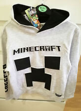 Minecraft Hoodie Children 3D Print Size 10-11 Yrs Grey BNWT Official Mojang