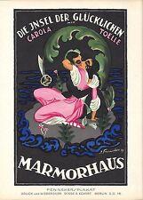 Original vintage poster print ISLAND OF HAPPYNESS FILM 1920 Fenneker