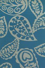 FabHabitat Outdoor Indoor Mats Rugs Australia PAISLEY Blue & White 150x238cm