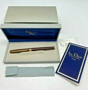 Vintage Christian Dior fountain pen. 14 carat gold nib 585. Original box EPP