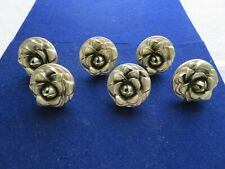 Lot Set 6 Vintage Douglass Drapery Curtain Tieback Tie Back Knobs Polyresin Gold
