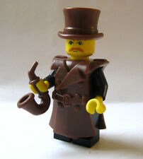 Lego Custom Steampunk / Detective Minifigure with Custom Pipe, Coat, & Top Hat
