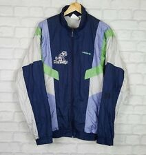 VINTAGE RETRO ADIDAS 90'S SHELLSUIT BOLD BRIGHT WINDBREAKER SPORT COAT JACKET D8