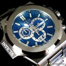 Invicta Reserve Akula 55mm Stainless Steel Swiss Mvt Blue Chronograph Watch New