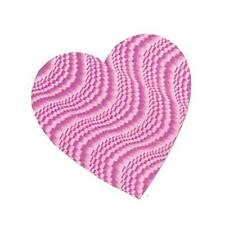 """8-1/2"""" Embossed Foil Heart Cutout - Pink"""