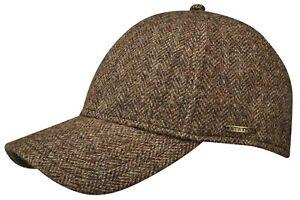 Stetson Baseball Cap Fullcap Cap Plano 365 Herringbone Wool New Trend