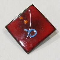 Vintage Enamel Pin Brooch RETRO Geometric Art Design
