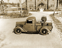 """1938 US Forest Service Fire Truck, MN Vintage Old Photo 8.5"""" x 11"""" Reprint"""