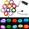 1-5M Flash Flexible Neon LED Lampe Glow EL Strip Tube Wire Rope Car Party Light