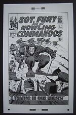 Lg. Production Art SGT. FURY & HIS HOWLING COMMANDOS #32 cover, DICK AYERS art