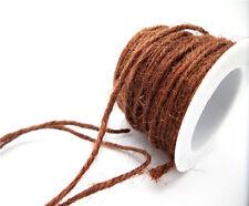 10M natural Jute Rope Thread Yarn Line Craft DIY ScrapBook Wedding Jewerly EV01