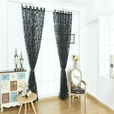Fashion Window Curtain Phoenix Tail Printed Panel Drape Bedroom Bubble Screen CF