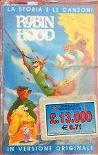 Robin Hood Mc Walt Disney La Storia e Le Canzoni Rarissima