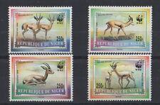 1998 WWF REPUBLIQUE DU NIGER WILD ANIMALS GAZELLA SET OF 4 MNH STAMPS