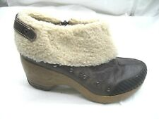Jambu 41 10M Holland brown faux fur booties Womens Ladies Ankle Boots Shoes