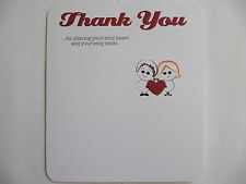 THANK YOU FOR SHARING YOUR KIND HEART LOVE CARD THANK YOU BIRTHDAY GREETING CARD