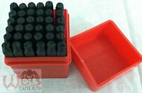"36pc Number and Letter Punch Set 1/8"" Hardened Steel Metal Die Jewelers w/Case"