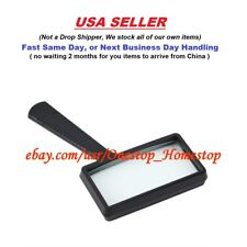 """4X MAGNIFYING GLASS, Rectangular, 4"""" x 2"""", HandHeld, Reading, Coins, Stamps,"""