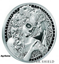 1 oz 2017 La Muerte del Dolar Proof - Death of the Dollar #10 Silver Shield 999