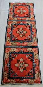 ca.1920 Wonderful Old Antique Chinese small rug 5,8x2 Ft