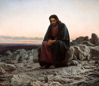 Christ in the Wilderness - Ivan Kramskoy, 1872, Christian, Jesus, Canvas Print