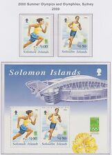 Solomon Islands 2000 Summer Olympics & Olymphilex, Sydney M/S Set 2 U/mint