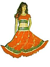 Bollywood Dancing Skirt-Top Set Sequin Embroidery Belly Dancing Costume