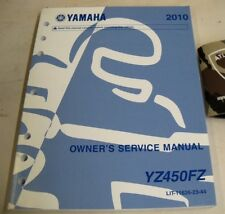 2010 YAMAHA YZ450FZ MOTORCYCLE OWNER'S SERVICE SHOP REPAIR MANUAL