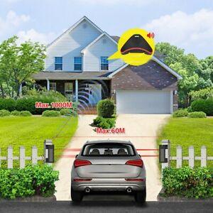 Driveway Alarm Sensor Alert Burglar System Wireless Solar Outdoor Security GB