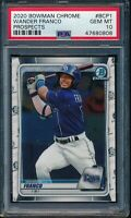 PSA 10 WANDER FRANCO 2020 Bowman Chrome Tampa Bay Rays Rookie Card RC GEM MINT