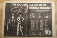 Gillan tour double trouble   1981 press advert 2 page 56 x 40 cm mini poster