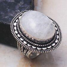 Rainbow Moonstone Ethnic Jewelry Handmade Ring US Size-7 AR 31160