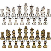 Piper High Polymer Weighted Chess Pieces with Extra Queens No Board 3.0 Inch King Pieces Only