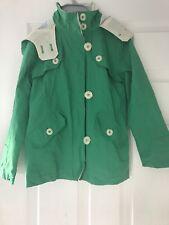 Next Girls Green Coat Age 7-8 Zip/Button Fastening Lightweight Jacket Worn Once.