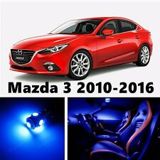 8pcs LED Blue Light Interior Package Kit for Mazda 3