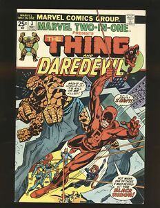 Marvel Two-In-One # 3 - Thing & Daredevil Fine Cond.