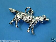 Vintage silver English Setter Hunting Dog Puppy Breed charm Jmf Co. #F Last One!