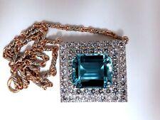 """GIA Zertifiziert 25.48ct. Natürlich """" Blau """" Aquamarin 15ct Diamanten Halskette"""