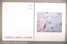 Cy Twombly Art Gallery Exhibit Double-Page PRINT AD - 1990