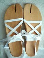MAISON MARTIN MARGIELA  'Tabi' wood sandals Size 40