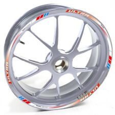 AUEN Sticker wheel Rim Honda silver Integra DCT White Red and blue strip tape vi