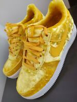 """Nike Air Force 1 LV8  """"Mineral Gold Velvet""""  Size 6.5Y Womens Size 8 849345-700"""