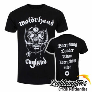 Official Motorhead England Everything Louder Rock Band T-Shirt