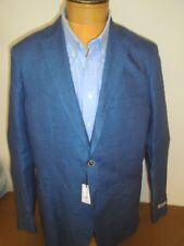 Peter Millar 100% Linen 2 Button Sport Coat NWT Large 42 Long $495 Pier Blue