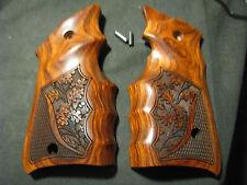 "Ruger Mark Mk IV ONLY Rosewood ""Oak Tree"" FG Target Pistol Grips -Beautiful! NEW"