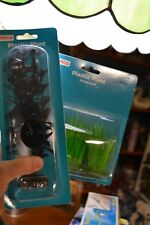 PETCO AQUARIUM 2 LOT PLASTIC PLANT ASSORTMENT - 1  FOREGROUND - 1  MIDGROUND